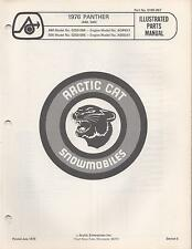 1976 Arctic Cat Snowmobile Panther 440, 500 P/N 0185-067 Parts Manual (586)