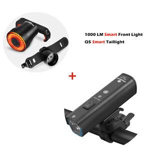 RockBros Bike Light Set USB Rechargeable Bicycle Lights  400LM / 1000LM