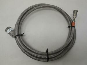 High Pressure Flex Line / Cryogenic Hose 3 Meters SS 300 PSI Sm End SHIPS TODAY
