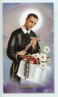 St. Gerard Motherhood Prayer Relic Laminated Holy Card- Blessed by Pope Francis