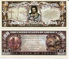 United States Usa 1 Million Dollar Bill Christianity Psalm 23 Aunc