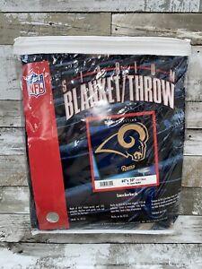 St Louis Rams Rare Logo Nfl Lisenced Throw Blanket