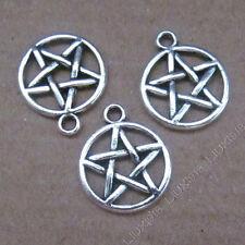 15x Tibetan Silver Pentagram Star Pendant Charms DIY Jewellery Accessories /629