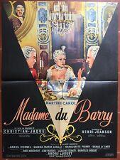 Cartel Madame Del Barry Christian-Jaque Martine Carol Daniel Ivernel 60x80cm