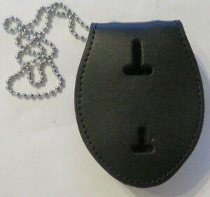 BADGE HOLDER mit Gürtel-Clip & Kette für Polizei Abzeichen USA Marke belt & neck