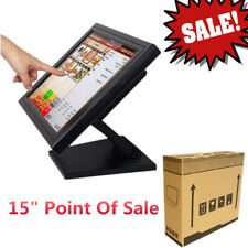 "LCD da 15"" pollici Monitor Touch Screen LED Monitor VGA USB+POS Stand Bar Pub"