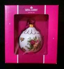Royal Albert Old Country Roses Christmas Ornament Ball Bauble