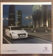 PEUGEOT 508/SW accessori auto gamma brochure. SUB WOOFER PER AUTO COPRISEDILE leghe ecc.