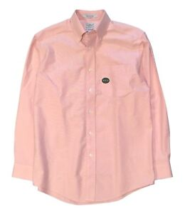 L.L. Bean Salmon Pink Oxford Long Sleeve Button Down Collar Traditional Fit M