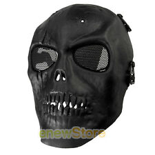 Skull Skeleton Full Face Mask Tactical Paintball Airsoft Protect Safety Mask Bla