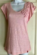 EDC By Espirit 1968 San Francisco Short Sleeve Blush Knit Top XS
