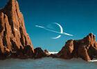Framed canvas art print giclee Saturn Viewed from Titan