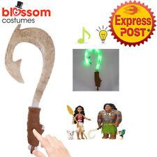 K376 Maui Light Up Sound Fish Hook Moana Toys Gift Costume Props Kids Accessory