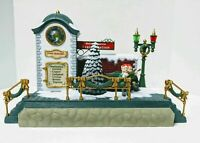 New Bright Holiday Express Musical Train Station Clock Tower W/ Elves