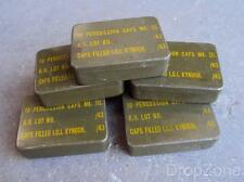 WWII British Military Army Percussion Caps Mk.III Tin - Empty 1943 or 1944