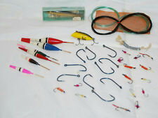 Vintage Lot Of Assorted Fly Fishing, Rapala Wobbler, Heddon Tiny Lucky 13 Lures