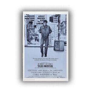 "Taxi Driver Print (Blue) Art Movie Poster HD Print Wall Home Decor 12 16 20 24"""