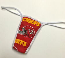 NFL KANSAS CITY CHIEFS  PANTY/THONG COTTON LINED LARGE/XL 38-40 INCH HIP