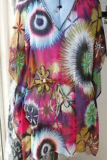 Polyester Kimono Sleeve Short/Mini Floral Dresses for Women