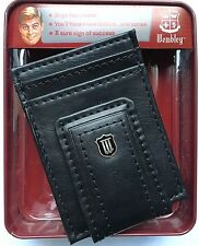 Wembley (USA) Men's Leather Magnetic Money Clip Front Pocket Wallet New In Box