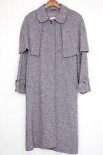 VTG Jimmy Hourihan Donegal Tweed Cape Coat Mauve Speckled Irish Wool Womens