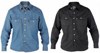 Mens Duke Western Big King Size Denim Shirt