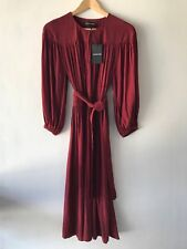 COUNTRY ROAD : SZ 10 CR LOVE yoke detail gather dress burgundy - S