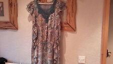 Oasis Blue Lace Crochet Tunic Dress Top Size 12