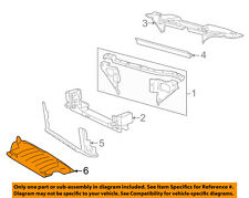 Lincoln FORD OEM LS Radiator Core Support-Engine Under Splash Shield 6W4Z17626AA