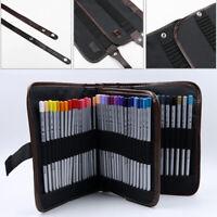 Portable Drawing Sketch Brush Pencil Pen Pocket Holder Bag Case Pouch 72pcs
