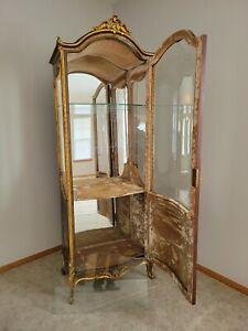 19th Century French Sedan Style Vitrine Display Cabinet