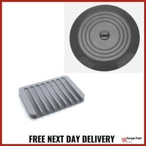 Grey Matching Bathroom Set Large Silicone Stopper Plug With A Soap Dish Holder