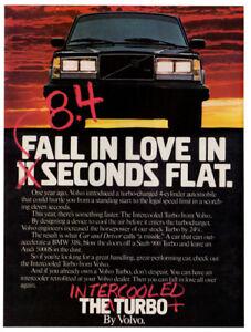 1983 VOLVO Intercooled Turbo Vintage Original Print AD Black car photo Canada EN