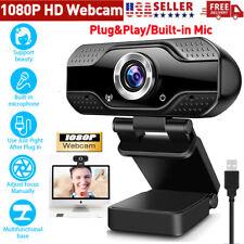 HD Web Camera 1080P Webcam USB 2.0 Computer Camera W/Mic For PC Laptop Desktop