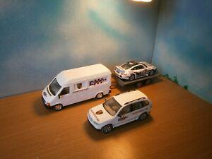 1/43  LOT ENJOLRAS RALLYE VW BMW ASSISTANCE REMORQUE PORSCHE 911 CEVENNES  2011