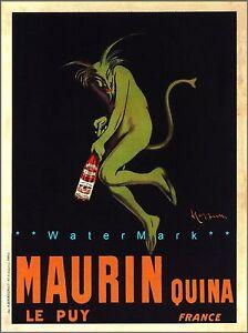 Maurin 1906 Quinquina Green Devil Absinthe Vintage Poster Print Cappiello Art