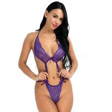 #M Women's Sexy Lingerie Sheer Bodysuit Babydoll Clubwear Teddy Nightwear Dress