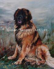 More details for sale leonberger signed dog print by susan harper unmounted