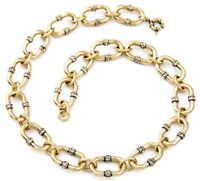 CHUNKY GOLD CHAIN LINK PAVE Diamante Crystal Rhinestone Haute Couture Necklace