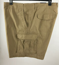 Tommy Hilfiger Mens Khaki Big and Tall Classic Fit Chino Cargo Shorts 54R