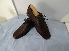 MENS DESIGN LOAKE ENGLAND 100% LEATHER LACE UP BROWN SHOES SIZE UK 7