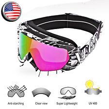 Snow Glasses Ski Goggles Anti Uv Dustproof Uv Protection Snowboard Snowmobile Us