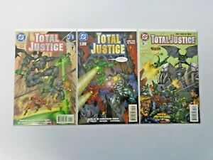 Total Justice set #1-3 8.0 VF (1996)