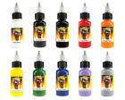 SCREAM TATTOO INK 10-PACK Primary Color Set Bottles Black Color Shade Ink Supply