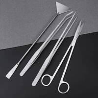 UEETEK 4 in 1 Stainless Steel Aquarium Aquatic Plant Tweezers Scissors Tool AU