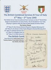 ENGLAND BRITISH COMBINED SERVICES ITALY TOUR 1945 RARE HAND SIGNED PAGE 11 SIGS