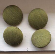 Set 4 Vintage Large 2.9 Cm Material Covered / Metal Shank Buttons