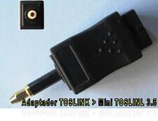 ADAPTADOR TOSLINK a MINI TOSLINK 3.5 AAT-100