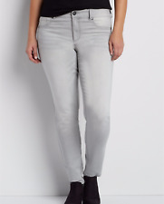 Maurices NWT jeans DenimFlex plus size 20 jegging gray super stretchy fabric $35