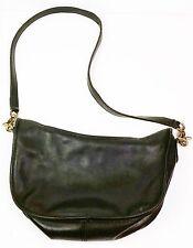 """Black leather vintage Coach purse shoulder bag 18"""" drop 9""""d 3 1/2""""w  11""""l"""